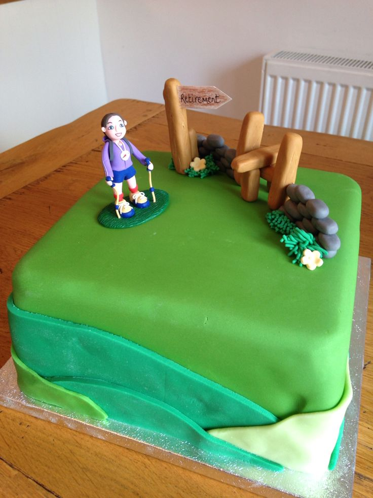 Retirement cake for a hiker