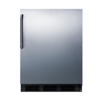Summit Appliance 24 in. 5.5 cu. ft. Freezerless Refrigerator in Stainless Steel