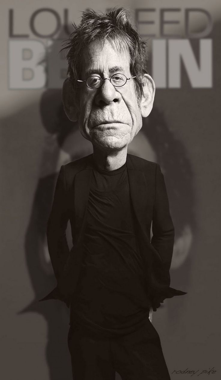 Caricatura de Lou Reed.  ~ Ʀεƥɪииεð вƴ╭•⊰✿ © Ʀσxʌиʌ Ƭʌиʌ ✿⊱•╮