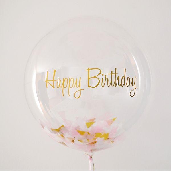 Precioso globo transparente relleno de confetis! Puedes personalizar el mensaje en el globo! - Lovely confetti clear balloon
