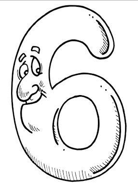 Belajar Mewarnai Gambar Untuk Anak Anak Dengan Angka 6 (enam)