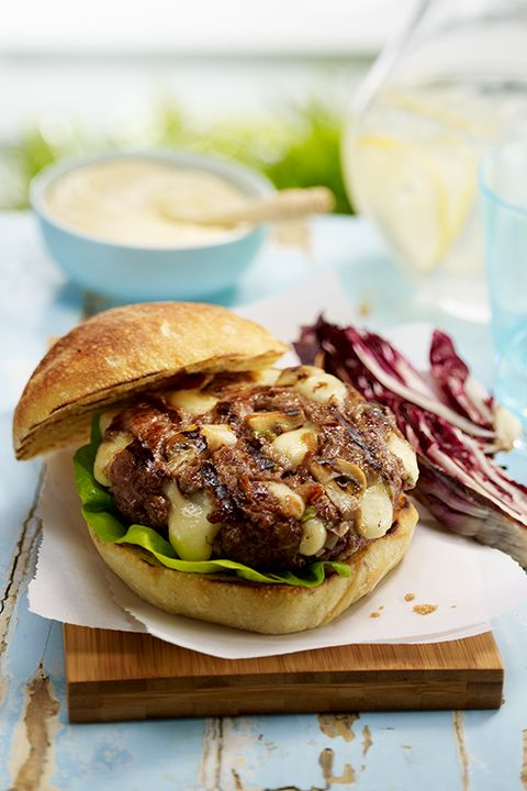 INGREDIENTS BY SAPUTO   This melty grilled cheeseburger recipe shines with mushrooms, white wine and Saputo Mozzarellissima mozzarella. Try it for an idea that's sure to wow at your next BBQ!