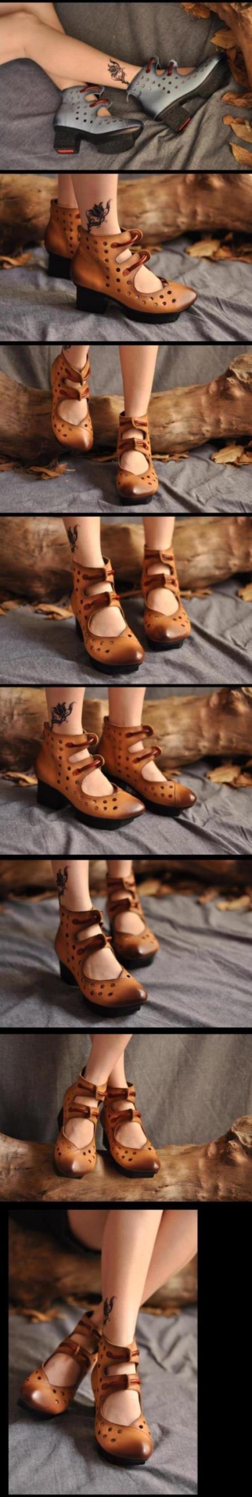 Aliexpress.com: Купить Pernycess Tucson на основе литературный выдолбите отверстие сандалии с удобной ретро повседневные изделия из кожи туфли из Надежный обуви стихи поставщиков на Yangzhou Pernycess Garment Industry Co., Ltd