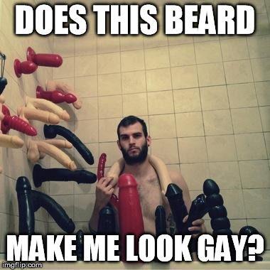 BEARD GAY MEME