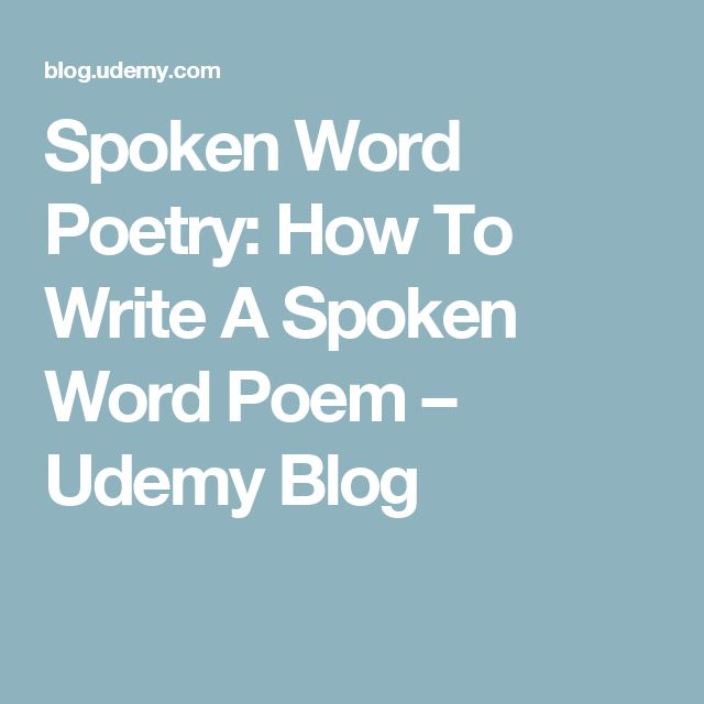 How to Write Slam Poetry