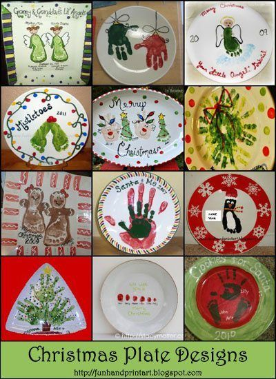 Who can resist an adorable Christmas Handprint or Footprint Plate as a gift or on display in their home? It's Day 8 of our 12 Days of Christmas Pinspiration featuring ideas found on Pinterest meant to inspire your own creations. From Santa & me to gingerbread people, all are too precious and a priceless keepsake. Handprint and …
