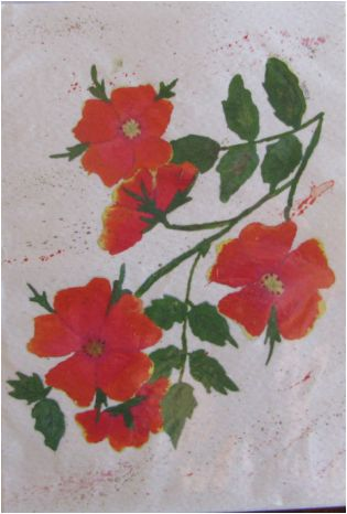 Water colour greeting card