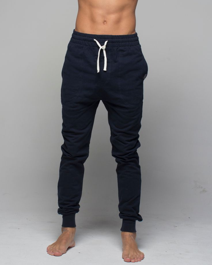 Mens Track Pant Navy available at www.monstasurf.com