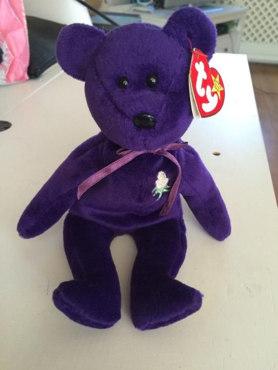 """Beanie Babies are a notoriously bad investment, but a couple in England is making headlines for hoping to flip a $15 Princess Diana bear for as much as $100,000.  Rodgers and Ryan Flanaghan say they picked up the 1st Edition Princess Diana purple bear at a flea market in Bude, Cornwall.  In reality the bear has zero bids so far, and the price tag is wildly optimistic according to a Beanie Baby site called TyCollector.com.  """"Contrary to all of the hype, misinformation and secondary market…"""