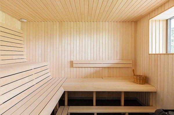 Modern Villa Interior Sauna