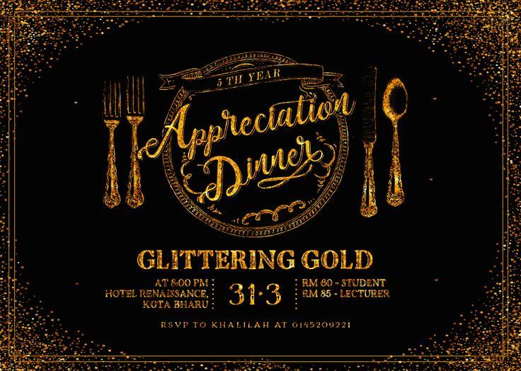 Appreciation Dinner Poster