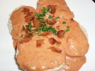 Southern Tomato Gravy. This is a nice recipe. I sometimes use canned tomatoes or stewed tomatoes, depending on if we are having breakfast or dinner and I use an immersion blender to make it fairly smooth. There are lots of recipes out there, but this comes pretty close to the recipe I've been making for many years. It's great over biscuits, but my husband also loves it over rice.