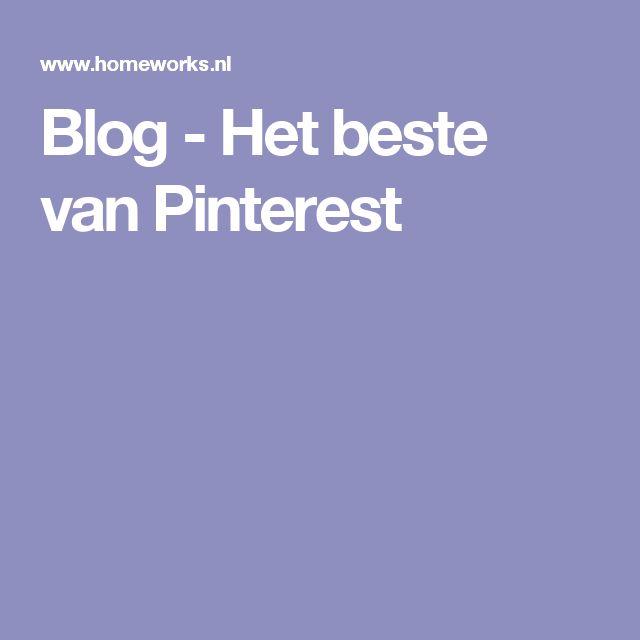 Blog - Het beste van Pinterest
