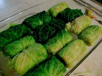 hey what's for dinner mom?: Vegetarian Cabbage Rolls