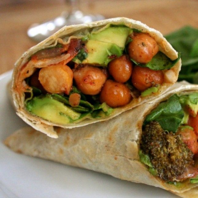 This Roasted Chickpea and Broccoli Burrito packs just 300 calories.