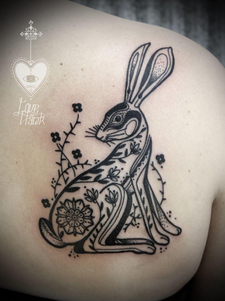 David Hale #rabbit #tattoo