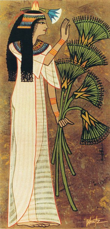 Nefertem - Goddess of Perfume Also known as she Who is Beautiful and Water Lily of the Sun, was goddess of both healing and beautification