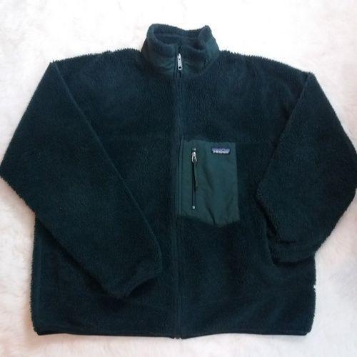 Mens Patagonia Retro X Fleece Jacket Size XL Forest Green Sherpa Deep Pile 23055 #Patagonia #FleeceJacket