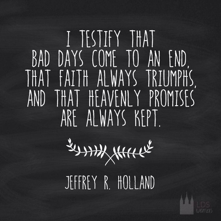 Image result for good days will come elder holland