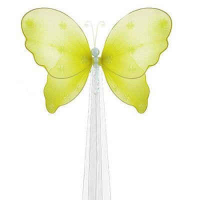 The Butterfly Grove Isabella Butterfly Curtain Tieback Color: Yellow Daffodil