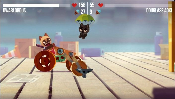 Cats Battle Bots Game