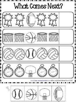 patterns sports patterns worksheets kindergarten pattern worksheet preschool worksheets. Black Bedroom Furniture Sets. Home Design Ideas