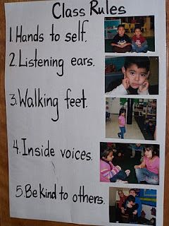 """Class rules   From website """"Learning and Teaching With Preschoolers"""""""