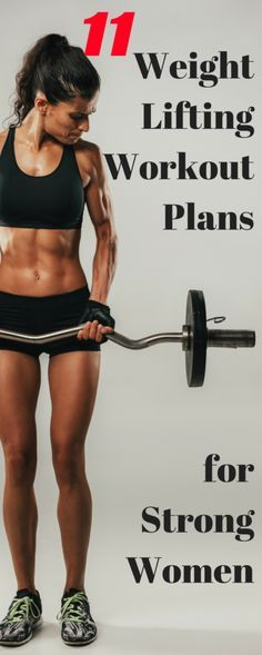 Weightlifting Workout Plans for Women. 11 of the best gym workout plans, weight lifting routines for female weight training