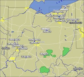 Map of Ohio WaterFalls.  Hey @Patrick Beaugrand, I think I found something I wanna do with you... :)
