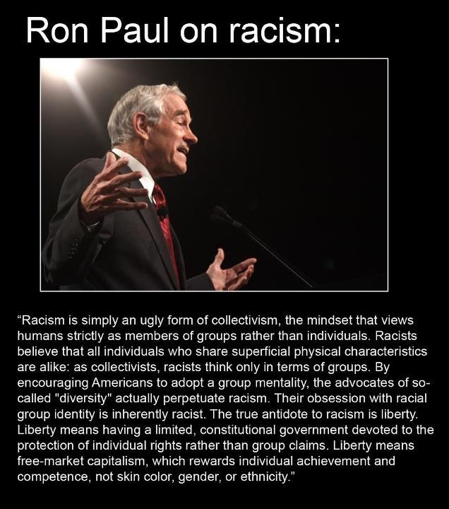 Ron Paul on racial prejudice.