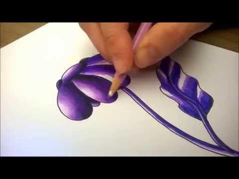Dégrader au crayon de couleur sur feutre - Shading with pencils on marker - YouTube