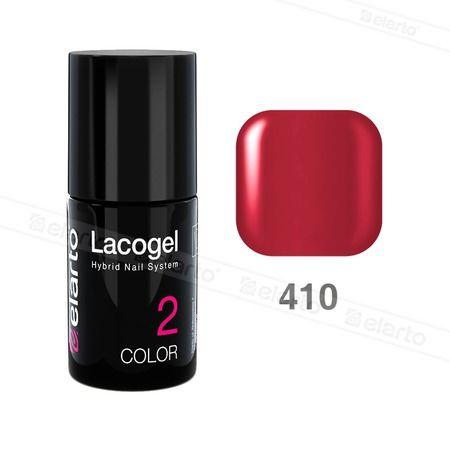Lakier hybrydowy Lacogel nr 410 - czerwony 7ml #lacogel #elarto #czerwony