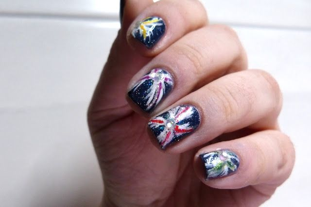 RainPow Nails: [Happy Holidays] Feuerwerk