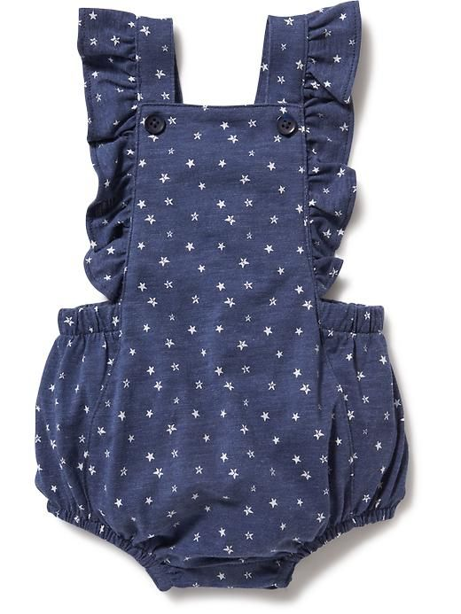 Printed Ruffled Romper for Baby Product Image