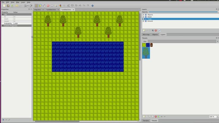 Game development setting up a tile map with tiled