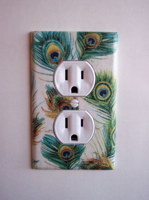 Bedroom outlets, love these, there are so many that can go with all different styles and colors to go with the theme of your room