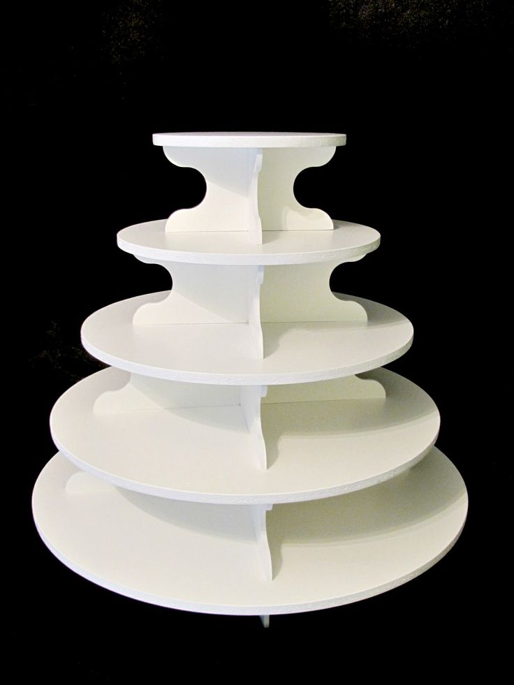 Our large round cupcake stand is great for any occasion. It's a round 5 tier cupcake stand that makes a great addition to any dessert display.