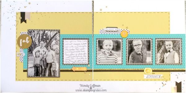 Stamping Rules!: Day 274: Life is a Journey Album Retreat Layout