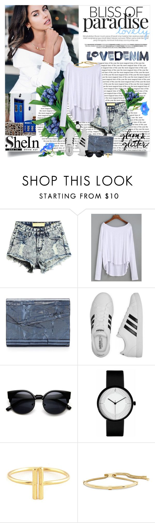 White Canvas ^ with Shein.com by reka97 on Polyvore featuring adidas, Jimmy Choo and Lanvin