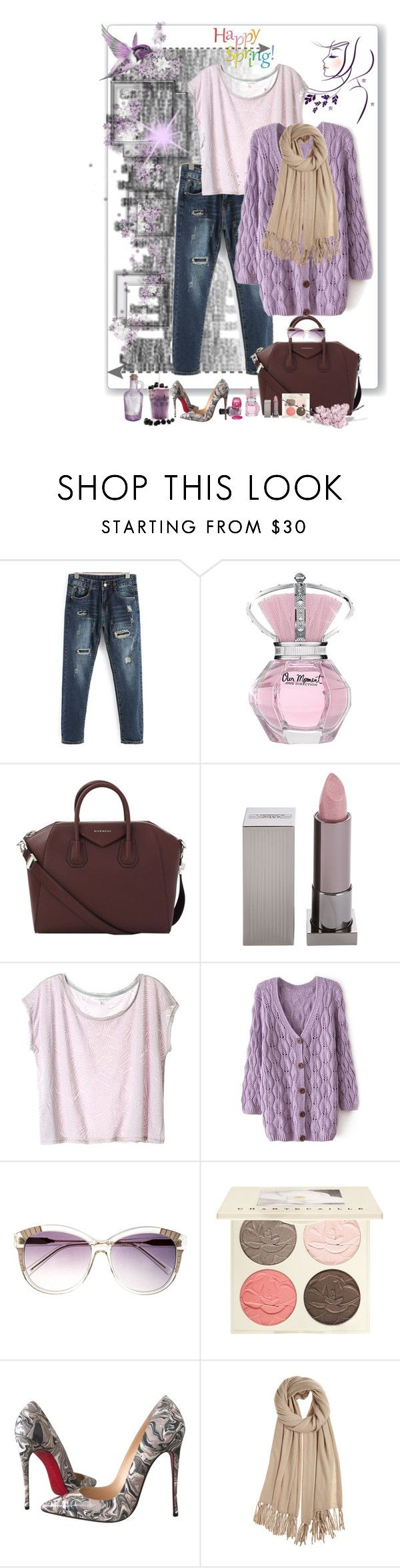 """""""spring 4 2016"""" by ntina36 ❤ liked on Polyvore featuring Givenchy, Lipstick Queen, Heidi London, Chantecaille, Christian Louboutin and Calypso St. Barth"""