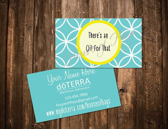 doTERRA Custom Business Cards, There is an Oil for That