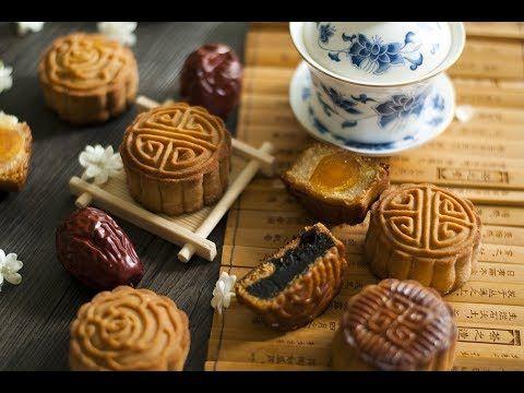 月饼系列——广式月饼(蛋黄莲蓉/枣泥馅) How to make Mooncake(Lotus seed paste/red date stuf...
