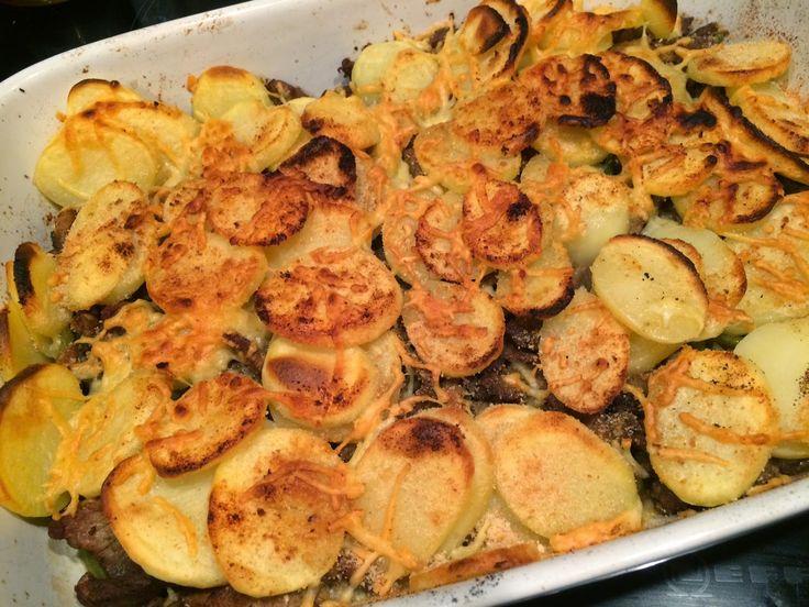 Shoarma, boontjes en aardappelen gegratineerd in de oven (fotoblog)