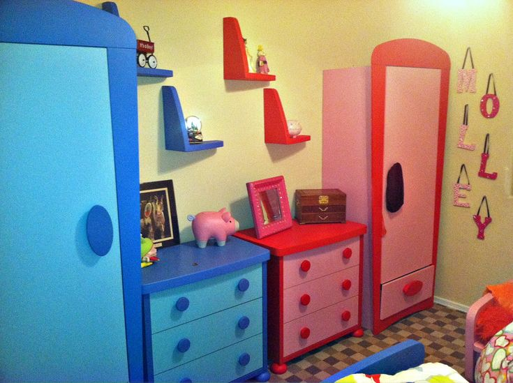 Lovely Stunning IKEA Kids Room Reflects Cheerful Character With Colorful Item :  Nice Blur Red Double Ikea