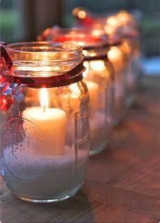 Christmas DIY - tea lights