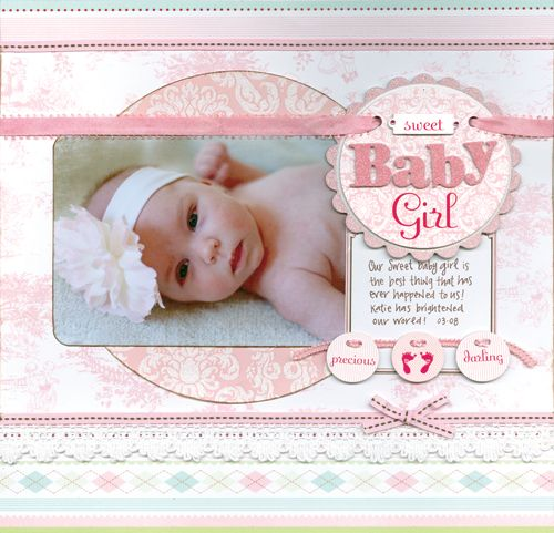 83 Best Scrapbook Pages For Baby Girl Images On Pinterest