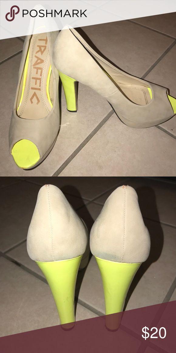 Neon high heels 👠 Neon high heels, worn twice! Size 40 so (10 US) but they run a bit small ! Shoes Heels