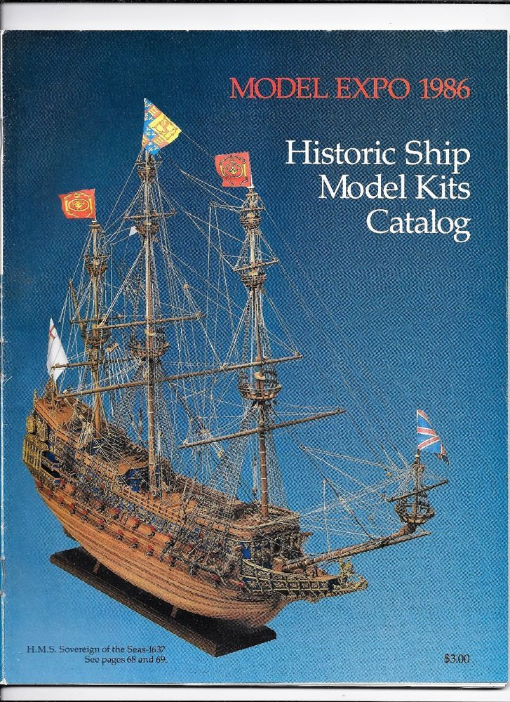 Model Expo 1986 Historic Ship Model Kits Catalog