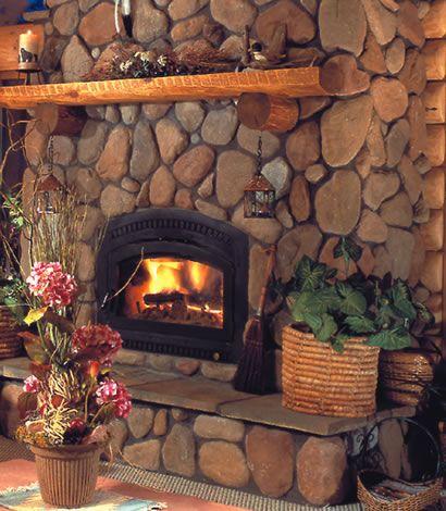 Rock Fireplace best 25+ river rock fireplaces ideas on pinterest | river rock
