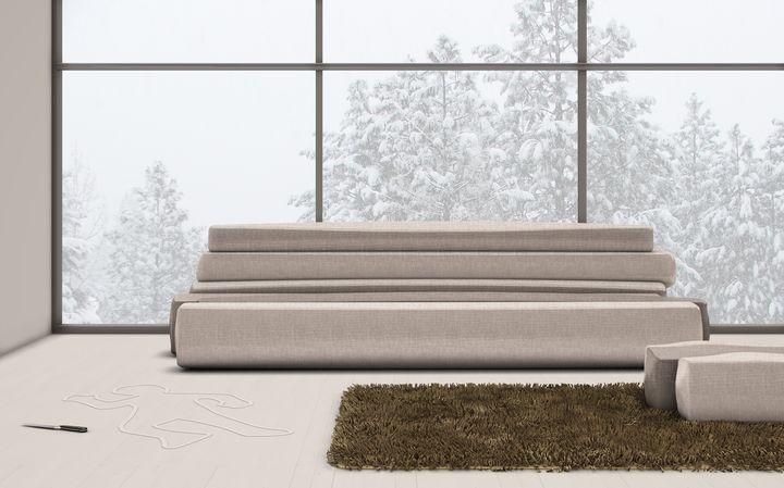 Roberto Paoli per Seminato Mercadante presenta il divano Bruk al Salone del Mobile 2014